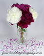 Wedding Centerpiece with Fuchsia Diamond Confetti