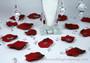 Acrylic Crystal Diamond Confetti - 4 Carats - Mixed with Rose Petals
