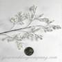 Iridescent Seed-Bead Sprays w/Silver Stems