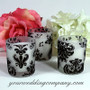 Damask Votive Candles