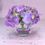 Purple Adhesive Gem Stickers