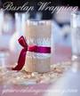 Burlap Fabric (4-inch wide) - Wedding Centerpiece