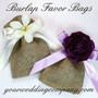 Burlap Favor Bags (4x6 inches) Wedding Favor Idea