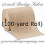 BULK Burlap Fabric (12 in x 100yd Roll)