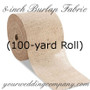 BULK Burlap Fabric (8 in x 100yd Roll)