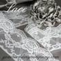 White Scalloped Lace - Wedding Decoration