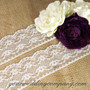 Scalloped White Raschel Lace