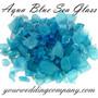 Aqua Sea Glass Vase Filler