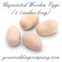 Unfinished Wooden Eggs (1.5 inch long)