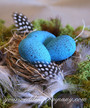 Hand Painted Robins Eggs
