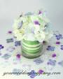 Variegated Tropical Leaf Ribbon - Wedding Centerpiece