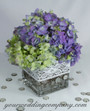 Wedding Centerpiece with Cotton Crochet Lace Accent