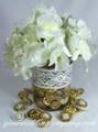 Wedding Centerpiece with Cotton Crochet Lace Accent