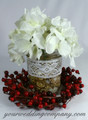 Holiday Centerpiece with Cotton Crochet Lace Accent