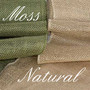 Burlap Roll (14-in wide) - Moss & Natural