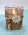Votive  with Gold Faceted 5mm Sequins
