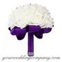Faux Rhinestone Mesh Ribbon Wedding Decorations - Wedding Bouquet