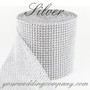Mesh Ribbon Wedding Decorations (Silver 24 Row)