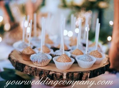Cake Pops on a Wooden Platter