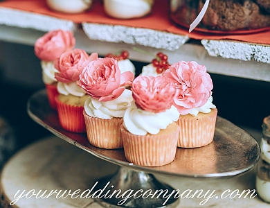 Cupcakes on a Silver Platter