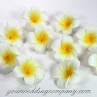 Foam Plumeria Flowers