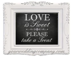 Love is Sweet Candy Buffet Sign