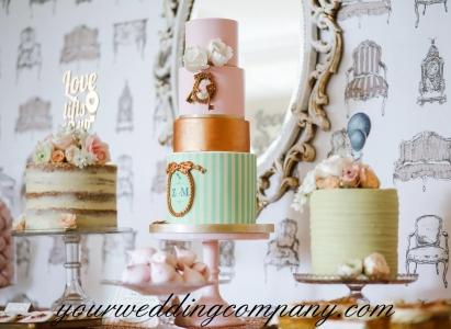 Multiple Cakes on Display