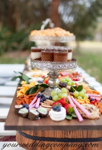 Rustic Dessert Table with Fruit