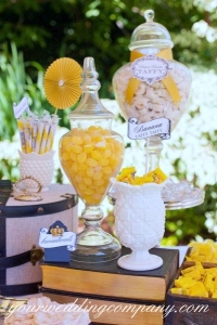 A Yellow Candy Buffet