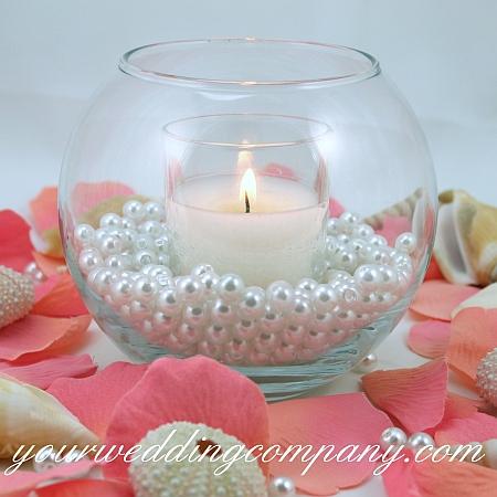 Faux Pearls Vase Filler