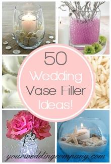 Wedding Vase Filler Ideas