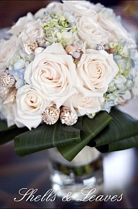 Shells and leaves Bouquet Accents