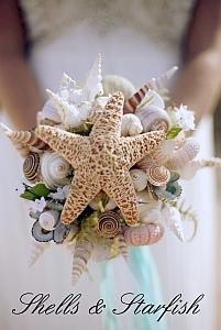 Shells and Starfish Wedding Bouquet