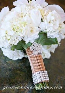 Rhinestone Wrap and Brooch Accents