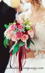 Bouquet Handle Ribbon Accents