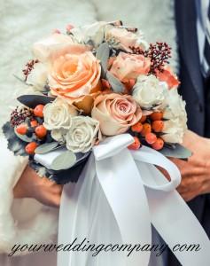 Satin Ribbon Bouquet Wrap
