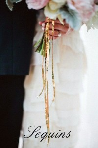 Sequin Ribbon Bouquet Accents