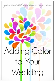 Adding Color to Your Wedding