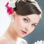 Bride Wearing Hair Flowers