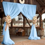 Tulle Curtains on Barn Entrance