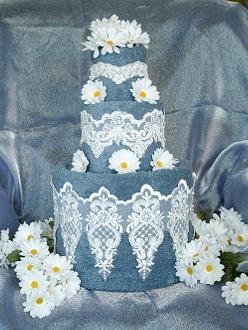 Blue Towel Cake