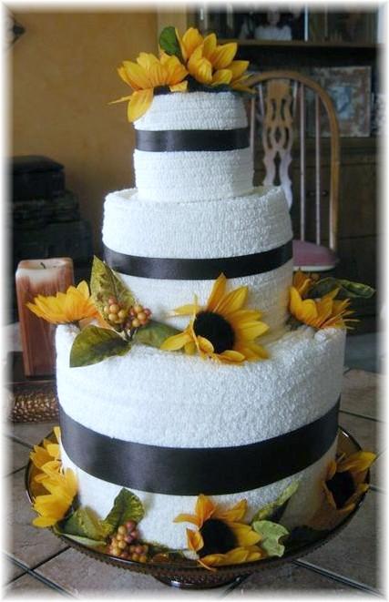 Sunflower Towel Cake
