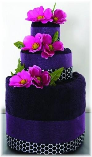 Purple Towel Cake