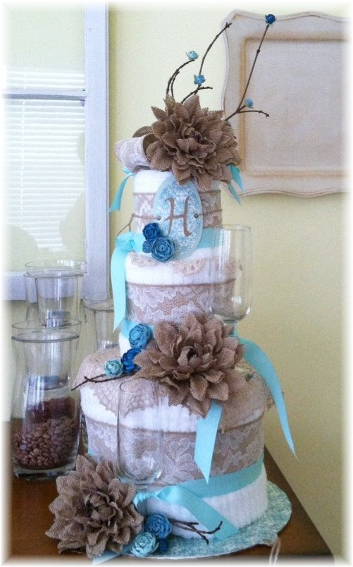 Beautiful Towel Cake