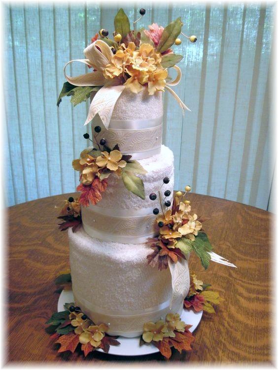 Fall Themed Towel Cake