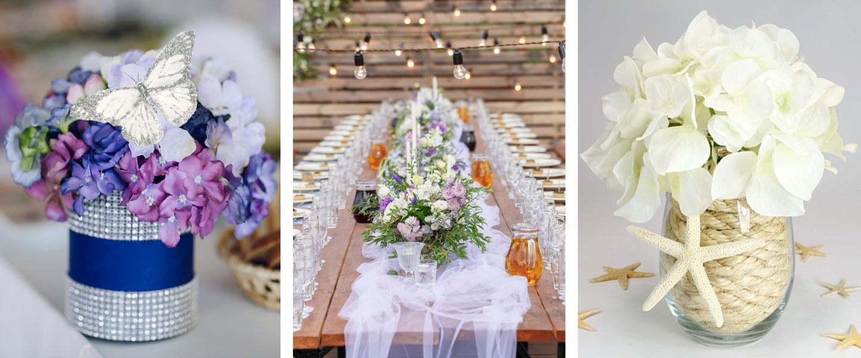 Create beautiful wedding centerpieces.