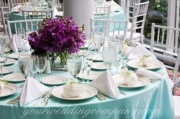 Bridal shower table settting.