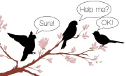 Delegate wedding tasks - birds on a branch