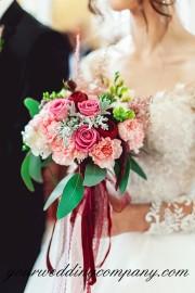 Bride Holding a Natural Bouquet