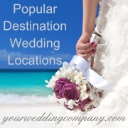Popular wedding destinations.